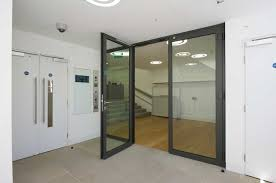fire smoke resistant doors stairwell perspective