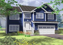 New Valley Homes House Plans Narrow Lot Split Entry C Se Fr: Full Size ...