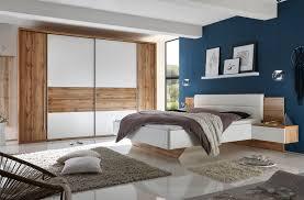 Schlafzimmer Komplett Set 4 Tlg San Marino Weiß Wildeiche Ebay