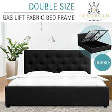luxdream wooden double bed frame gas lift storage bedroom furniture crazy s