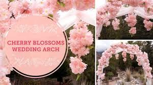 Cherry Blossom Backdrop Spring Cherry Blossoms Diy Wedding Arch Balsacircle Com