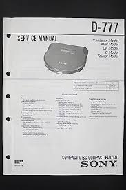 sony d 147cr original cd player discman service manual wiring sony d 777 original cd player discman service manual wiring diagram diagram