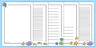 Rainbow Page Border Page Borders To Support Teaching On The Rainbow Fish The Rainbow Fish