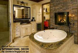luxury bathroom designs with fireplace ideas electric fireplace 2016