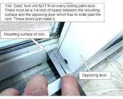 sliding glass door locks repair seal sealant patio weather stripping