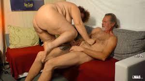 XXX OMAS Horny amateur German granny gets cum on tits in.