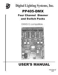 Pp405 Dmx Manual 07 Digital Lighting Systems Manualzz Com