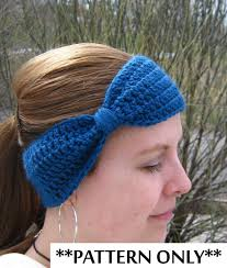 Crochet Patterns For Headbands Fascinating Crochet Pattern For Bow Headband Ear Warmer For Adult Women