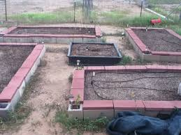 concrete block raised garden bed
