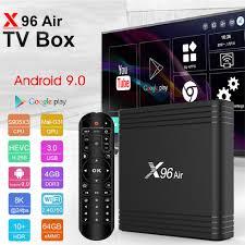 Hot X96 Air Amlogic S905X3 mini smart tv Android 9.0 TV BOX 4GB 64GB 32GB  wifi 4K 8K 24fps Netflix X96Air 2GB 16GB Set Top Box - buy at the price of