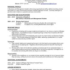 Resume Objective For Part Time Job New Student Job Resume Template