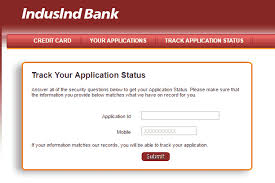 how to check indusind bank credit card