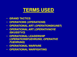 Operational Art And Design Ppt Ppt Introduction To Operational Art Powerpoint