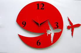 Retro Kitchen Wall Clocks Retro Kitchen Wall Clock Unique Teapot Clock Red Color Tea Time
