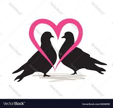 two bird silhouette.  Two And Two Bird Silhouette F