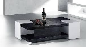 ... Armen Living Callum Square Black Wood Coffee Table