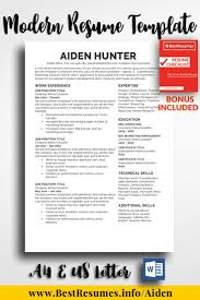Resume Template Aiden Hunter Simple Resume Templates Pinterest