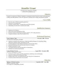 pediatric medical assistant resume template resume objective for medical assistant