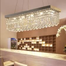 three bright rectangular dining room lamp european led crystal chandelier modern minimalist restaurant lamp creative bedroom lamp fashion personality bar