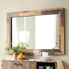 wood mirror frame. Large Wood Mirror Reclaimed Frame Wall West Elm Round .