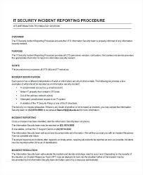 Incident Report Letter Template How To Write An Incident