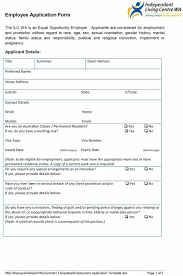 Employment Job Application Form 50 Free Employment Job Application Form Templates Printable