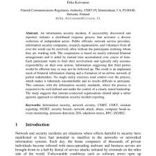 Sample Security Incident Report Writing Term Paper Academic