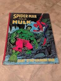 Free printable spiderman coloring pages for kids. Rare Marvel Silver Age Spider Man Meets The Hulk Giant Coloring Book 1960s Ebay