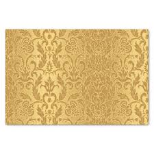Gold Damask Background Antique Gold Damask Pattern Vintage Floral Chic Tissue Paper