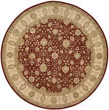 nourison 3000 3002 red 8 x8 round area rug last