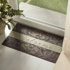18x30 Rubber Doormat Indoor Low Profile Non-Slip Washable Welcome ...
