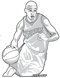 Stephen Curry Coloring Pages Arenda Stroy