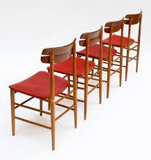 Set di 4 sedie anni 60 in stile scandinavo uso interno