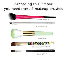 the 5 makeup brushes you need according to glamour