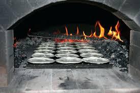 brick oven door pie pastry in brick oven brick oven door thermometer