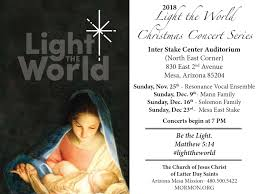 Light Of The World Church Phoenix Christmas Lights On The Mesa Arizona Temple Grounds The