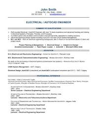Electrical Engineer Resume Template