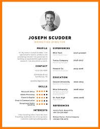 Orange and White Photo Resume