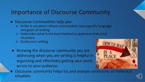 discourse community 12 using discourse community
