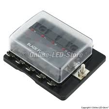 automotive fuse boxes led fuse box fuse box for sale Fuse Box For Sale ols pszacceps052h 10 way led illuminated blade fuse box with cover fuse box for sale for a 2006 gmc envoy xl