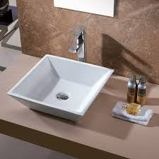 bathroom sink without vanity. luxier cs-006 bathroom porcelain ceramic vessel vanity sink art basin - amazon.com without