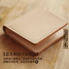 vintage vegetable tanned leather wallet short two fold wallet women leather minimalist designer men s handmade cloth fiscal tide