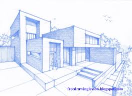 modern architecture drawing. Fine Architecture 2162x1580 Draw A House In Perspective On Modern Architecture Drawing T