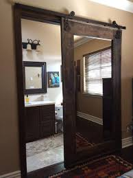 Bathroom Sliding Barn Door With Mirrors