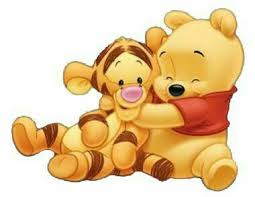 baby tigger and pooh hugging. Baby Winnie The Pooh Hugging Tigger With And