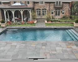 flagstone patio swimming pool bluestone