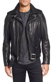 very goods schott nyc perfecto slim fit waxy leather moto jacket nordstrom
