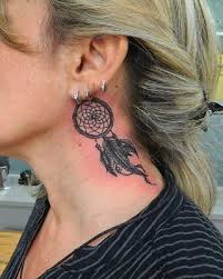 Dream Catcher Tattoo Behind Ear 100 Dreamcatcher Tattoo Designs For Women Art And Design 15