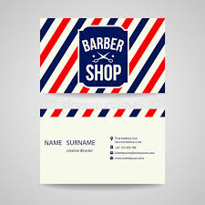 barbershop business cards business card template design for barber shop stock vector