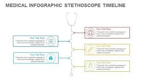 Timeline Ppt Slide Timeline Medical Stethoscope Powerpoint Template And Keynote Slide